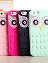 New Arrival 3D Cute Cartoon Owl Eyes Soft Silicone Back Cover Case for iPhone 5/5S(Assorted Colors)