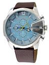Men\'s Fashion Military Watch Multi Movement Quartz Leather Watch Wrist Watch Cool Watch Unique Watch