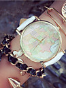 Fashion Women'S Watches Map Bracelets Analog Quartz Watches Mens Watches (Assorted Colors) Cool Watches Unique Watches