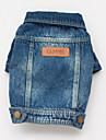 Dog Coat / Denim Jacket/Jeans Jacket Blue Dog Clothes Spring/Fall Jeans Cowboy