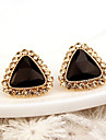 Women\'s Fashion Alloy Triangle Rhinestone Large Crystal Stud Earrings