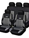 Накидки для сидений авто (9 шт), полиэстр, с технологией подогрева