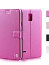 Pour Samsung Galaxy Note Porte Carte Avec Support Clapet Coque Coque Integrale Coque Couleur Pleine Cuir PU pour SamsungNote 5 Note 4