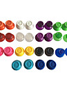 3 Pairs of Colorful Analog Stick Cap Replacement for Sony PS4 Wireless Controller(Random Color)