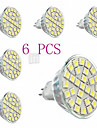 Focos LED Decorativa tiger MR16 GU5.3(MR16) 29 SMD 5050 440lm LM Blanco Calido AC 100-240 V 6 piezas