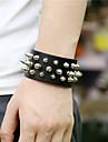 Unisex Alloy Leather Rivet Handcrafted Vintage Bracelet