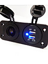 Hot!   2 Hole Panel Power Socket and Dual USB Car Charger Socket