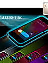 Lncoming Call LED Blink Transparent TPU Back Cover Case for iPhone 6 Plus