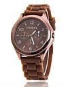 Xu™ 남성 아가씨들 남여공용 패션 시계 캐쥬얼 시계 석영 실리콘 밴드 블랙 화이트 블루 레드 브라운 그린 핑크 퍼플