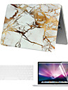 """Case for Macbook Air 13.3"""" Marble Plastic Material A Smart PVC MacBook Case with Keyboard Cover and Screen Flim"""