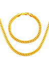 High Quality Korean Snake Chain Link Necklace Suitable for Men Jewelry 18K Gold Plated Unisex Necklaces Bracelet NB60034