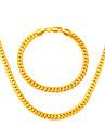 Conjunto de Joias Chapeado Dourado Dourado Prateado/Cinzento Colares Bracelete Para Casamento Festa Aniversario Noivado Diario Casual1