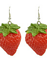 Earring Drop Earrings Jewelry Women Party / Daily Alloy / Resin Red KAYSHINE