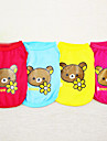 Dog Shirt / T-Shirt Dog Clothes Fashion Cartoon Yellow Ruby Blue Blushing Pink