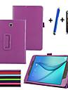 용 스탠드 / 플립 케이스 풀 바디 케이스 단색 하드 인조 가죽 Samsung Tab A 8.0