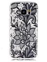 Para Samsung Galaxy Capinhas Transparente Capinha Capa Traseira Capinha Flor TPU SamsungS7 / S6 edge / S6 / S5 Mini / S5 / S4 Mini / S4 /