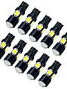 youoklight®t10 7W водить автомобиль лампы белый свет 6500k 490lm SMD 5050 - черный (DC 12V / 10шт)