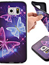 For Samsung Galaxy S7 Edge Pattern Case Back Cover Case Butterfly TPU Samsung S7 Active / S7 plus / S7 edge / S7 / S6 edge / S6