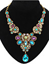 Women\'s Statement Necklaces Bib Necklaces Gemstone Drop Fashion	European Luxury Jewelry for Party