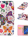 For Samsung Galaxy S7 Edge Card Holder / Wallet / with Stand / Flip Case Full Body Case Butterfly PU Leather SamsungS7 edge plus / S7