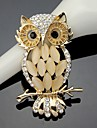 Women\'s Crystal Cute Owl Animal Brooch for Wedding Party Decoration Scarf ,Fine Jewelry