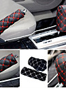 ZIQIAO Hand Brake Case & Gear Shift Case Car Interior Accessory 2PCS/Set