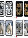"""iphone 6 плюс / 6с плюс боди-арт кожа наклейка: """"снежный барс, леопард, белый медведь, волк"""" (животные серии)"""