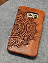 Natural Wood Samsung Case Lucky Flower Totem Hard Back Cover for Galaxy S6 edge+/S6 edge/S6