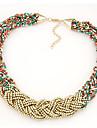 Ожерелье Пряди Ожерелья / Ожерелья-обручи Бижутерия Повседневные Мода Сплав Разные цвета 1шт Подарок