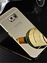 Pour Samsung Galaxy S7 Edge Plaque Coque Coque Arriere Coque Couleur Pleine Polycarbonate pour SamsungS7 edge S7 S6 edge plus S6 edge S6