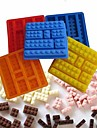 Brick Style Square Sharped Silicone Ice Mold Building Blocks Ice Tray DIY(Random Color)