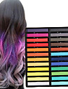 24 Color Temporary Chalk Crayons for Hair Non-toxic Hair Dye Pastels Stick DIY Styling Tools