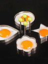 4PCS/LOT Four Styles Stainless Steel Omelette Mould Device Eggs Tools