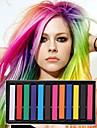 12 cores pasteis de giz temporarios para o cabelo nao-toxico pasteis de coloracao capilar furar ferramentas de estilo DIY