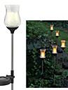 Solar Warm Yellow Crackle Glass Tulip Garden Decor Stake Lights
