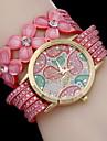 Женские Модные часы Часы-браслет Кварцевый Материал Группа Черный Белый Синий Розовый Хаки