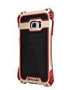 R-Just Aluminum Carbon Fiber Metal Case Cover Armor Gorilla Glass Shock Dust Proof for Samsung Galaxy  S7 edge/S7 S8 PLUS S8