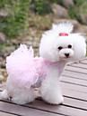 Dog Dress Blue / Purple / Pink Dog Clothes Summer / Spring/Fall Embroidered Cute / Wedding