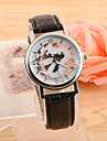 Men\'s Wrist watch Quartz PU Band Black Brown