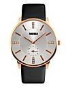 Skmei®Men\'s Dress Leather Strap Rhinestone Wrist Watch 30m Waterproof Assorted Colors Cool Watch Unique Watch