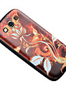 For Samsung Galaxy Case Pattern Case Back Cover Case Flower TPU Samsung S3