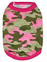 Коты / Собаки Футболка Зеленый / Розоватый Одежда для собак Лето / Весна/осень камуфляж Мода