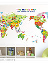 Fashion / History World Map Wall Decals Landscape / 3D Wall Stickers Plane Wall Stickers,pvc 50*70cm