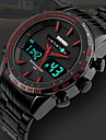 SKMEI® Men's Dual Time Display Analog-Digital Black Stainless Steel Sports Watch Cool Watch Unique Watch