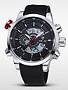 WEIDE® Men's Double Movement Analog Digital Date Alarm Stopwatch Display Waterproof PU Strap Watch Cool Watch Unique Watch Fashion Watch