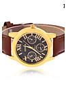 Men\'s Wrist watch Quartz Leather Band Black Brown