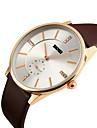 SKMEI Мужской Наручные часы Кварцевый Японский кварц Кожа Группа Черный Коричневый