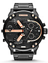 Men's Fashion Military Watch Multi Movement Dual Time Zones  Quartz Steel Watch Wrist Watch Cool Watch Unique Watch