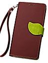 Para Samsung Galaxy Capinhas Porta-Cartao / Carteira / Com Suporte / Flip / Com Relevo Capinha Corpo Inteiro Capinha Cor Unica Couro PU