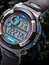 PASNEW Мужской Спортивные часы Цифровой PU Группа Черный Белый Синий Серебристый металл